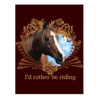 Carte Postale Je serais plutôt des chevaux d'équitation