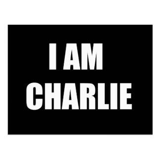 CARTE POSTALE JE SUIS CHARLIE
