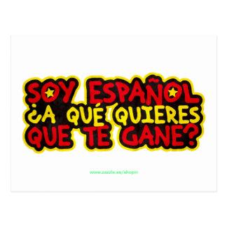 Carte Postale Je suis espagnol À Qu'est-ce que veux-tu que