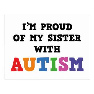 Carte Postale Je suis fier de ma soeur avec l'autisme