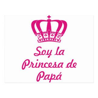 Carte Postale Je suis la princesse de pape
