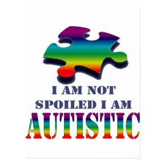 Carte Postale Je suis non corrompu moi suis autiste
