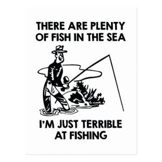 Carte Postale Je suis simplement terrible à la pêche