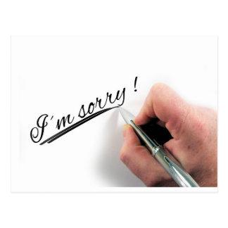 Carte Postale Je suis stylo manuscrit désolé