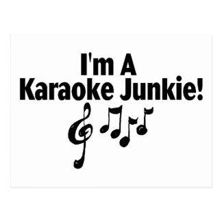 Carte Postale Je suis un drogué de karaoke