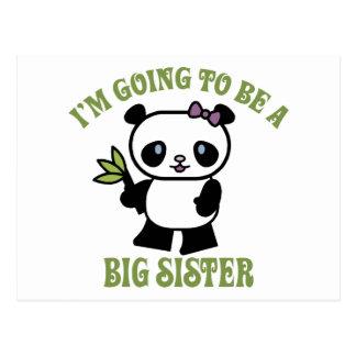 Carte Postale Je vais être une grande soeur