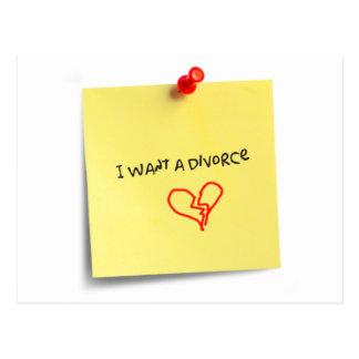 Carte Postale Je veux un divorce
