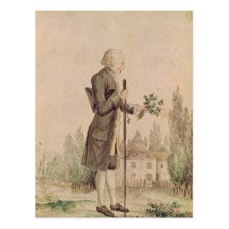 Carte Postale Jean-Jacques Rousseau recueillant des herbes