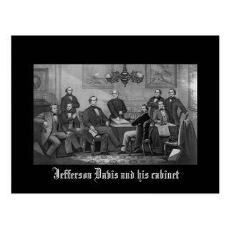 Carte Postale Jefferson Davis et son coffret