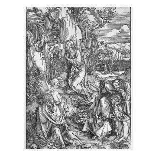 Carte Postale Jésus-Christ sur le mont des Oliviers