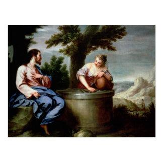 Carte Postale Jésus et la femme samaritaine