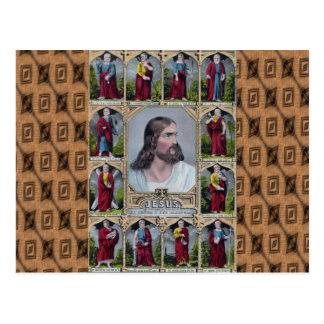 Carte Postale Jésus et les 12 apôtres