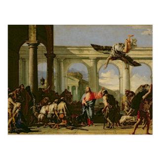 Carte Postale Jésus guérissant le paralytique à la piscine