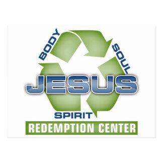 Carte Postale Jésus réutilisent le centre de rachat
