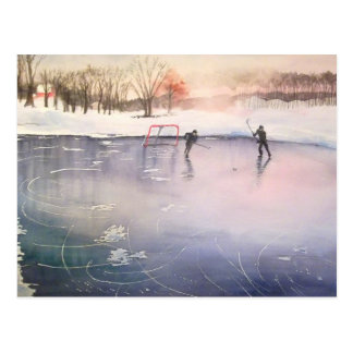 Carte Postale Jeu sur la glace