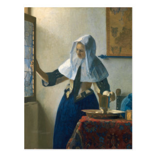 Carte Postale Jeune femme de Johannes Vermeer avec un broc de