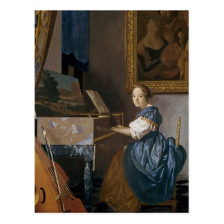 Carte Postale Jeune Madame assise à une vierge, c.1670