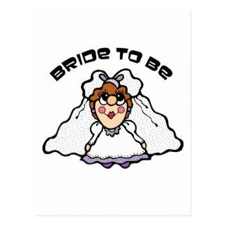 Carte Postale Jeune mariée à être