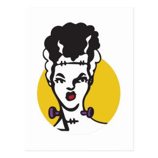 Carte Postale Jeune mariée de Frankenstein