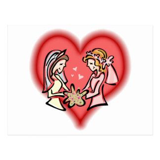 Carte Postale Jeunes mariées lesbiennes