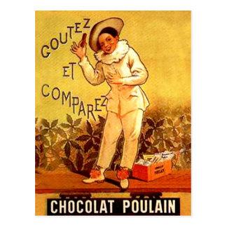 Carte Postale Jeux de partie français vintages de clown de