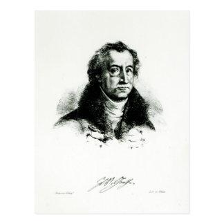 Carte Postale Johann Wolfgang Goethe gravé par Delacroix