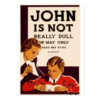 Carte Postale John n'est pas vraiment mat