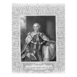 Carte Postale John Stuart, troisième comte de Bute, gravé