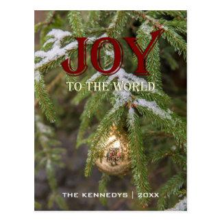 Carte Postale Joie - arbre en verre d'arbre d'ornement de Noël
