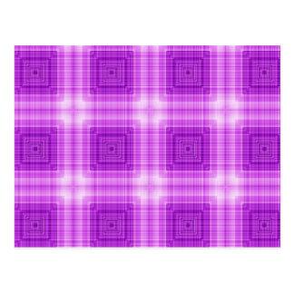 Carte Postale Joli motif de plaid de lavande