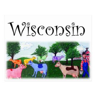 Carte Postale Jolies vaches au Wisconsin