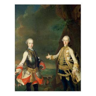 Carte Postale Joseph et Leopold, fils de Francis I et Maria
