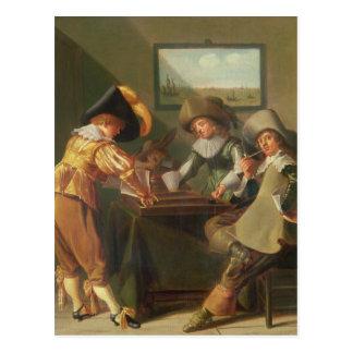 Carte Postale Joueurs de backgammon, XVIIème siècle