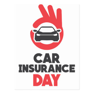 Carte Postale Jour d'assurance auto - jour d'appréciation