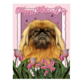 Carte Postale Jour de mères - Pekingese - cailloux