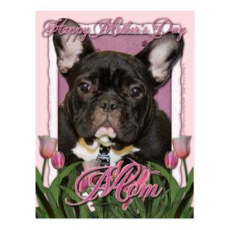 Carte Postale Jour de mères - tulipes roses - Frenchie - Teal