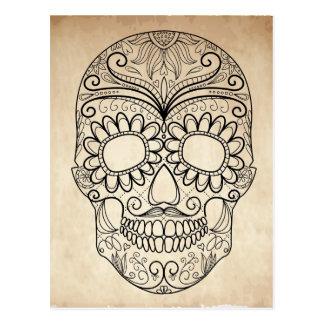 Carte Postale Jour du crâne sale mort