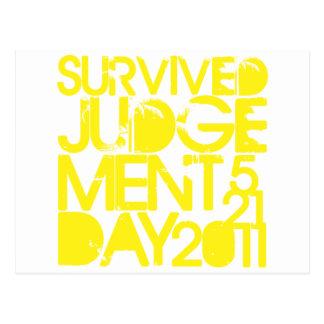 Carte Postale Jour du jugement dernier survécu 2011