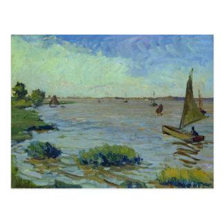 Carte Postale Jour venteux sur l'Elbe, 1911