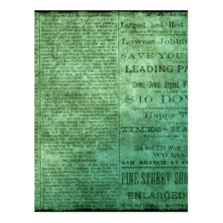 Carte Postale Journal vintage (vert)