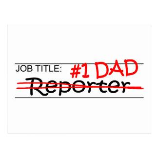 Carte Postale Journaliste de papa du travail