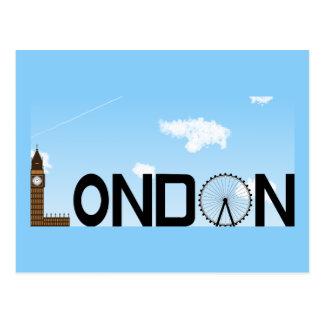 Carte Postale Journée d'horizon de Londres