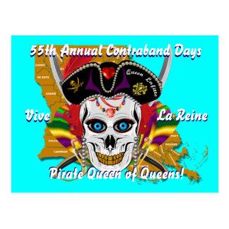 Carte Postale Jours de contrebande de pirate 30 couleurs