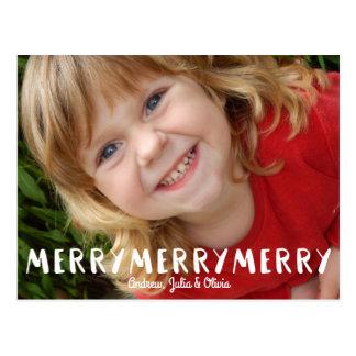 Carte Postale Joyeuse photo de vacances de Joyeux Noël
