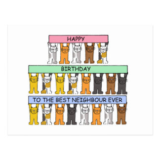 Carte Postale Joyeux anniversaire au meilleur voisin jamais