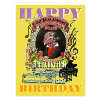 Carte Postale Joyeux anniversaire de Beethovehen Beethoven