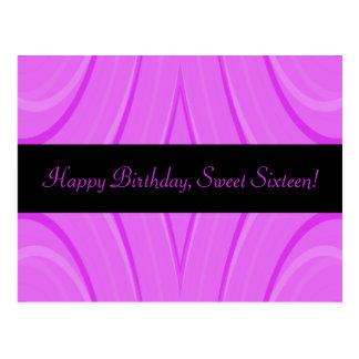 Carte Postale Joyeux anniversaire de sweet sixteen