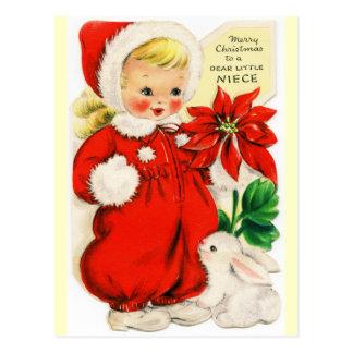 Carte Postale Joyeux Noël à un cher petit cru de nièce