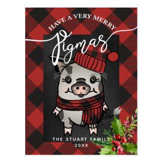 Carte Postale Joyeux plaid de Buffalo de Pigmas