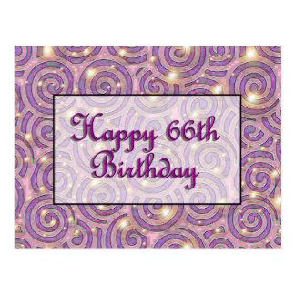 Carte Postale Joyeux soixante-sixième anniversaire